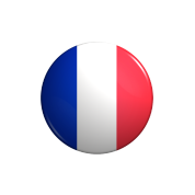 france-flag-button-round